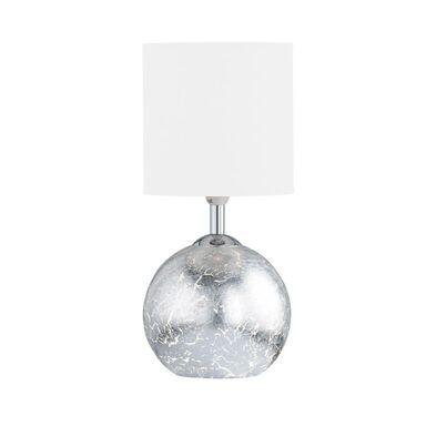 Lampa stołowa CARMEN srebrno-biała E14 + GU9 WOFI