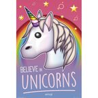 Plakat EMOJI-BELIEVE IN UNICORNS 61 x 91.5 cm