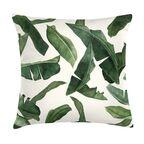 Poduszka w liście bananowca zielona 45 x 45 cm