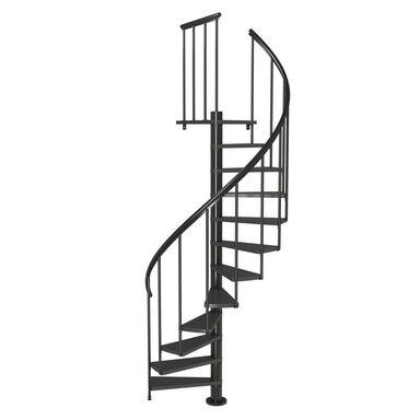 Schody spiralne Antracytowe Calgary średnica 140 cm stopnie szerokość 65 cm Antracyt 11 sztuk Dolle