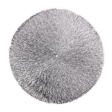 Podkładka na stół Bolide okrągła śr. 38 cm srebrna