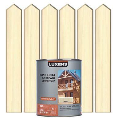 Impregnat do drewna ZEWNĘTRZNY 0.75 l Kremowy LUXENS