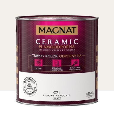 Farba wewnętrzna Ceramic 2.5 l Liliowy aragonit Magnat