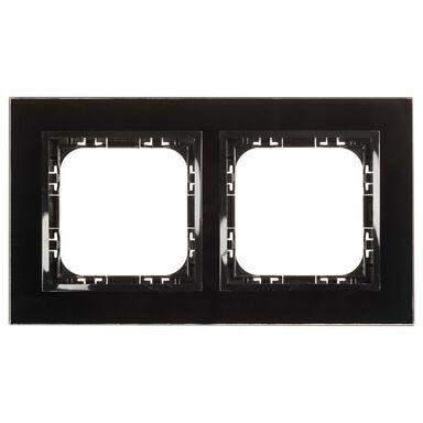 Ramka podwójna IMPRESJA  czarne szkło  OSPEL