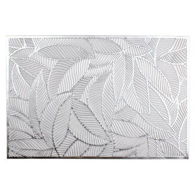 Podkładka na stół Blatt prostokątna 45 x 30 cm srebrna