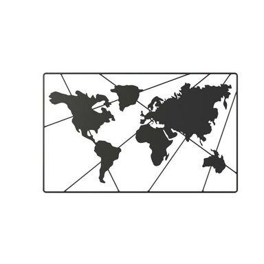 Metalowa dekoracja ścienna Mapa Świata 90 x 55 cm