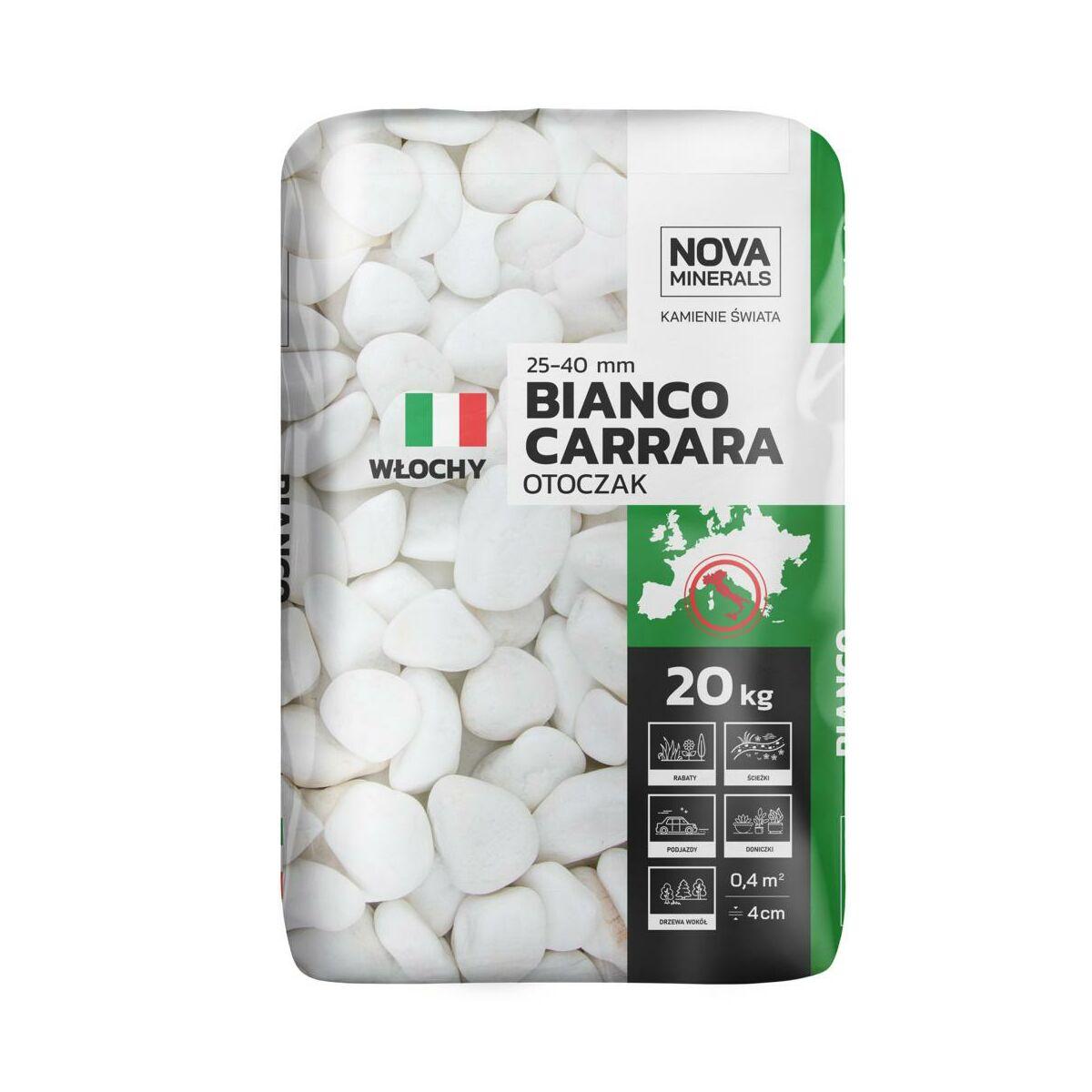 Otoczak Carrara 20 Kg 25 40 Mm Bialy Nova Minerals Grys Keramzyt Piasek W Atrakcyjnej Cenie W Sklepach Leroy Merlin