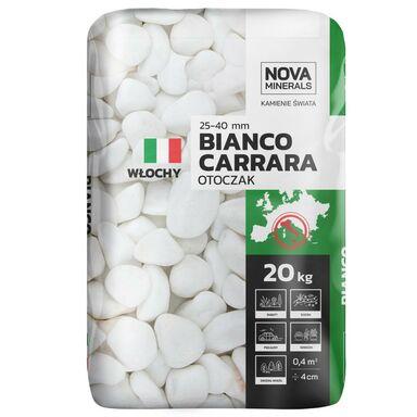Otoczak BIANCO CARRARA 20 kg 25 - 40 mm biały NOVA MINERALS