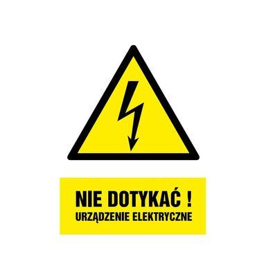 Znak informacyjny URZĄDZENIE ELEKTRYCZNE 14.8 x 21 cm