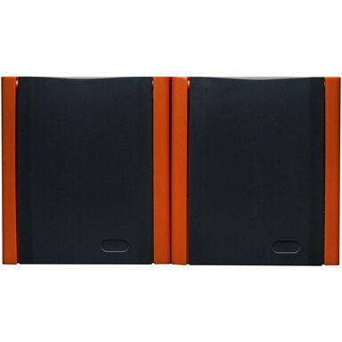 Gniazdo podwójne BRAVO IP54 Grafit/Pomarańcz  POLMARK