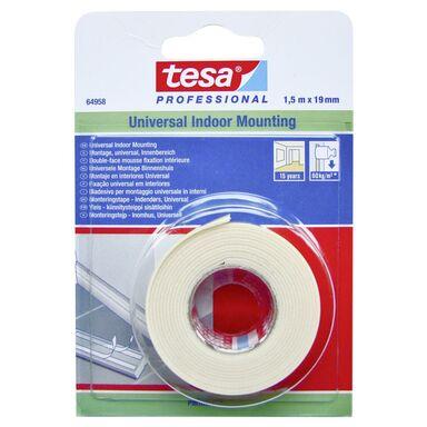 Taśma mocująca dwustronna piankowa 1.5 m x 19 mm do wnętrz TESA