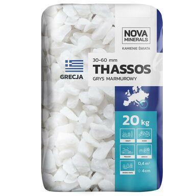 Grys THASSOS 20 kg 30 - 60 mm biały NOVA MINERALS