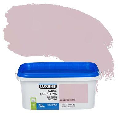 Farba wewnętrzna do ścian i sufitów EMULSJA 2.5 l Różowe baletki LUXENS