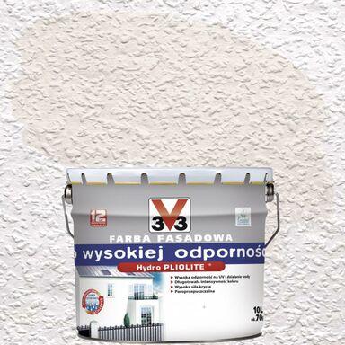 Farba elewacyjna akrylowa O WYSOKIEJ ODPORNOŚCI 10 l Biały V33