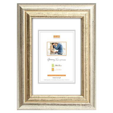 Ramka na zdjęcia SARA 10 x 15 cm srebrno-złota drewniana