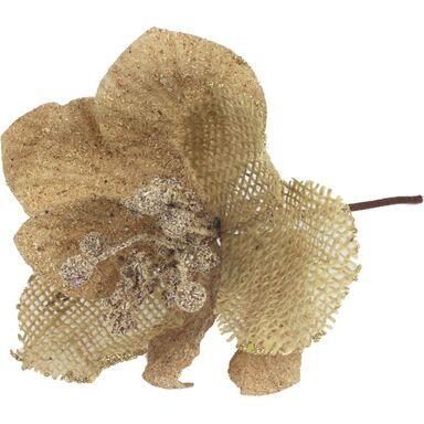 Kwiat sztuczny na piku 24 cm beżowy