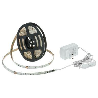 Zestaw taśmy LED z zasilaczem i pilotem 5 M IP20 RGB INSPIRE