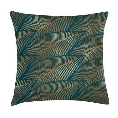 Poduszka w liście zielono-złota 45 x 45 cm