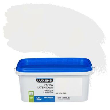 Farba wewnętrzna do ścian i sufitów EMULSJA 2.5 l Czysta biel LUXENS
