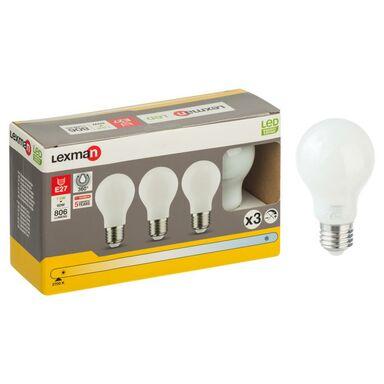 Żarówka LED E27 3 szt. (230 V) 7.5 W 806 lm Ciepła biel LEXMAN
