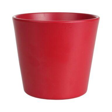 Osłonka na doniczkę 13.5 cm ceramiczna czerwona