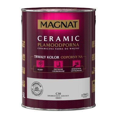 Farba wewnętrzna CERAMIC 5 l Srebrzysty granit MAGNAT