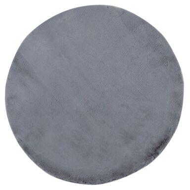 Dywan shaggy FLUFFY szary okrągły śr. 100 cm