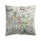 Poduszka bawełniana dla dzieci Schoolmania Komiks 45 x 45 cm