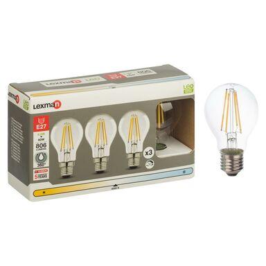 Żarówka LED E27 3 szt.(230 V) 6.5 W 806 lm Neutralny LEXMAN