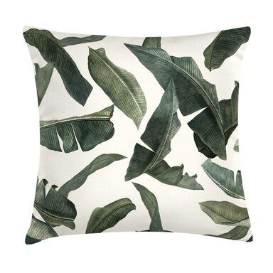 Poduszka w liście Manaia ciemnozielona 45 x 45 cm