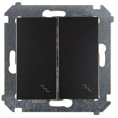 Włącznik schodowy podwójny SIMON 54  antracyt  SIMON
