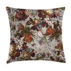Poduszka w kwiaty szara 45 x 45 cm