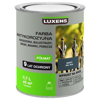 Farba antykorozyjna 0.7 l Grafit Półmat LUXENS