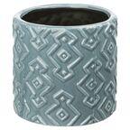 Osłonka ceramiczna 14 cm niebieska