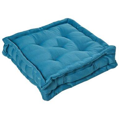 Poduszka na podłogę Elema niebieska 40 x 40 x 10 cm Inspire