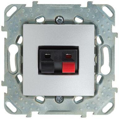 Gniazdo głośnikowe pojedyncze UNICA  aluminium  SCHNEIDER ELECTRIC