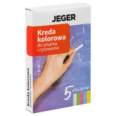 Kreda do pisania i rysowania kolorowa 5 szt. JEGER