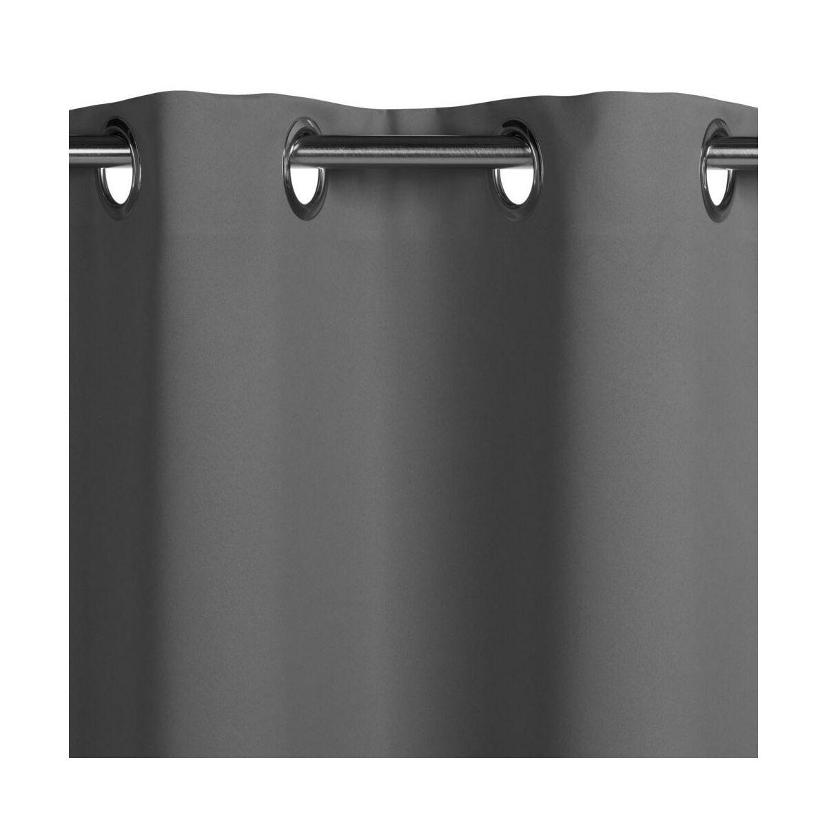 Zaslona Zaciemniajaca Blackout Ciemnoszara 140 X 260 Cm Na Przelotkach Inspire Zaslony Gotowe W Atrakcyjnej Cenie W Sklepach Leroy Merlin