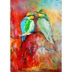 Kanwa Ptaki 50 x 70 cm