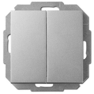 Włącznik podwójny SENTIA  srebrny  ELEKTRO - PLAST