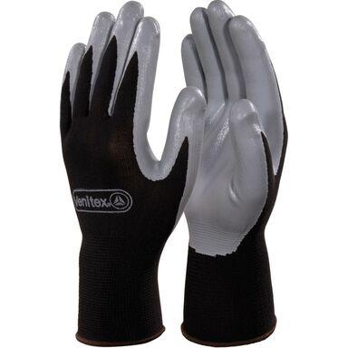 Rękawice nitrylowe czarne DPVE712GR09 rozm. 9 DELTA PLUS