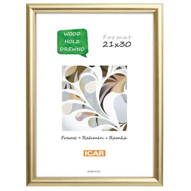 Ramka na zdjęcia Dri Hit 21 x 30 cm złota drewniana