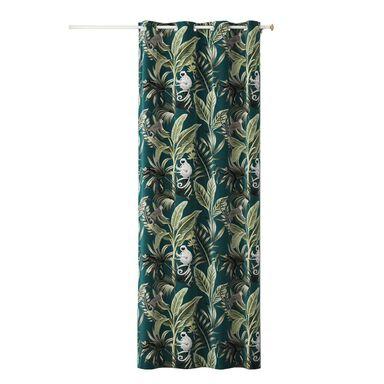 Zasłona w liście Harmony amazon zielona 140 x 250 cm na przelotkach