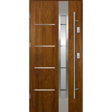 Drzwi wejściowe z antabą ADRIANA Złoty dąb 90 Lewe OK DOORS TRENDLINE