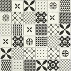 Mozaika Locarno Mix Black Mat 30 x 30 Artens