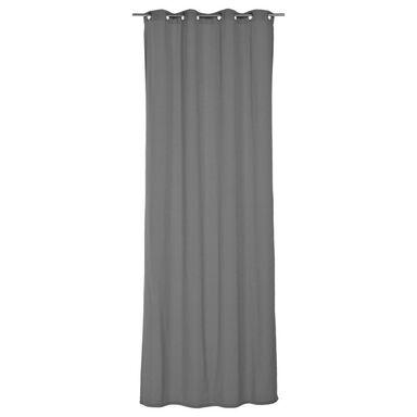 Zasłona ELEMA szara 140 x 280 cm na przelotkach INSPIRE