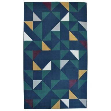 Dywan GEO niebieski i zielony 160 x 230 cm wys. runa 7.5 mm BALTA RUGS