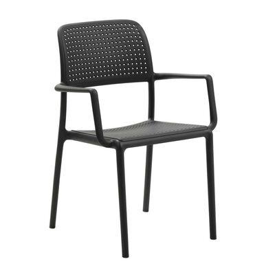 Krzesło ogrodowe plastikowe antracytowe BORA NARDI