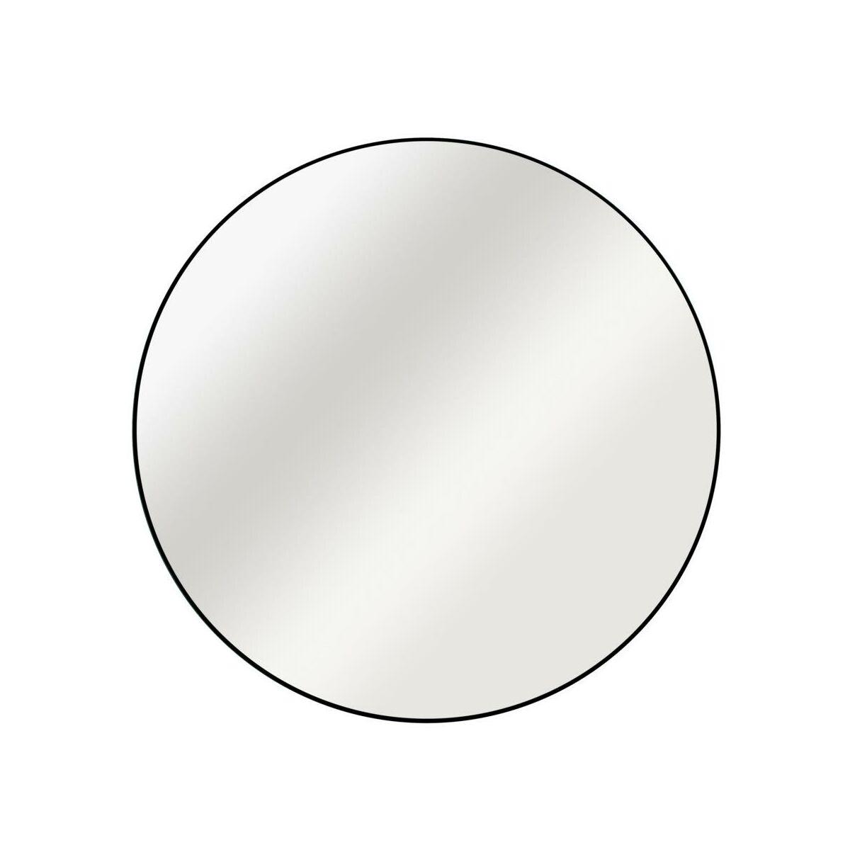 Lustro Okrągłe Circle Czarne śr 50 Cm Inspire