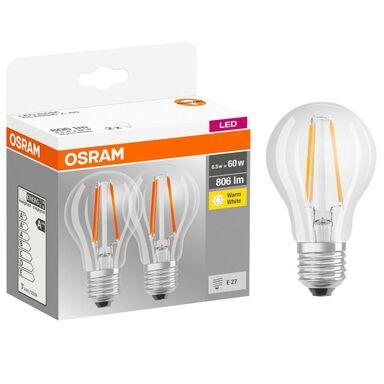 Żarówka LED E27 2 szt. (230V) 7W 806 lm Ciepła biel OSRAM
